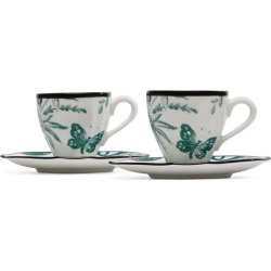 Herbarium Porcelain Coffee Cup and Saucer Set