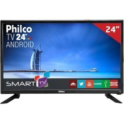 "Smart TV LED 24"" PTV24N91SA Philco, Full HD HDMI USB com Wi-Fi Integrado"