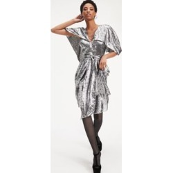Tommy Hilfiger Women's Zendaya Metallic Silk Blend Dress Star Metallic - 14 found on Bargain Bro India from Tommy Hilfiger for $275.00