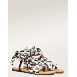 Tommy Hilfiger Women's Fabric Sandals Tommy Flag Print - 6