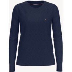 Tommy Hilfiger Women's Essential Scoop Neck Sweater Masters Navy - XXS found on Bargain Bro India from Tommy Hilfiger for $59.50
