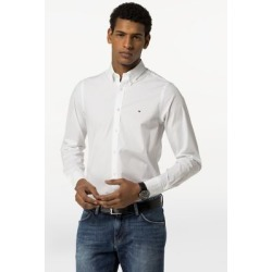 Tommy Hilfiger Men's Slim Fit Solid Stretch Shirt Bright White - XS found on Bargain Bro Philippines from Tommy Hilfiger for $79.50