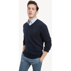 Tommy Hilfiger Men's Essential V-Neck Sweater Sky Captain - L found on Bargain Bro Philippines from Tommy Hilfiger for $59.50