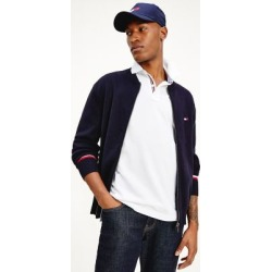 Tommy Hilfiger Men's Organic Cotton Zip Baseball Sweater Navy - M found on Bargain Bro India from Tommy Hilfiger for $149.50