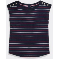 Tommy Hilfiger Women's Adaptive Stripe Top Navy/ Multi - M found on Bargain Bro India from Tommy Hilfiger for $49.50