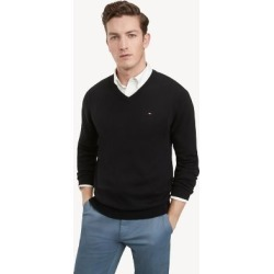 Tommy Hilfiger Men's Essential V-Neck Sweater Black - XXL found on Bargain Bro Philippines from Tommy Hilfiger for $59.50