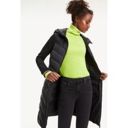 Tommy Hilfiger Women's Mixed Media Hooded Coat Black - 4