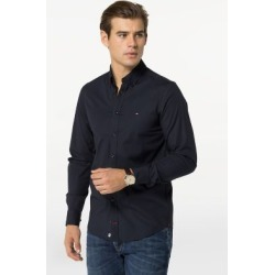 Tommy Hilfiger Men's Slim Fit Solid Stretch Shirt Sky Captain - XS found on Bargain Bro Philippines from Tommy Hilfiger for $79.50