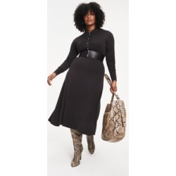 Tommy Hilfiger Women's Zendaya Curve Long Sleeve Midi Dress Grey - 22 found on Bargain Bro India from Tommy Hilfiger for $199.50