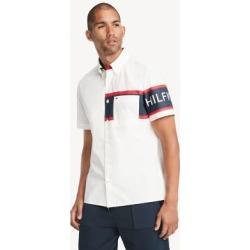 Tommy Hilfiger Men's Custom Fit Essential Stripe Shirt Snow White - XS