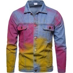 Color Block Lapel Casual Mens Jacket found on MODAPINS from Tbdress for USD $72.85