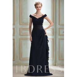 Column Off-The-Shoulder Appliques Bridesmaid Dress found on MODAPINS from Tbdress for USD $305.00