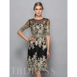 Half Sleeves Scoop Sheath Appliques Knee-Length Formal Dress found on MODAPINS from Tbdress for USD $388.00