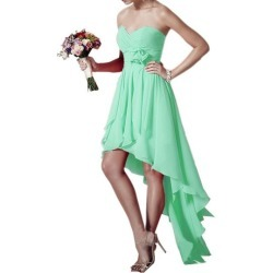 Sweetheart Chiffon High Low Beach Bridesmaid Dress found on MODAPINS from Tbdress for USD $147.00