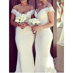 Off-The-Shoulder Lace Mermaid Bridesmaid Dress found on MODAPINS from Tbdress for USD $279.21