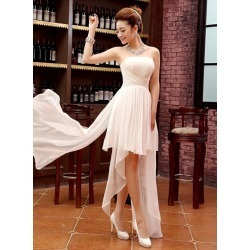 Strapless Asymmetry Empire Pleats Beach Bridesmaid Dress found on MODAPINS from Tbdress for USD $406.13