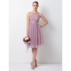 A-Line Beading Knee Length Bridesmaid Dress found on MODAPINS from Tbdress for USD $148.08