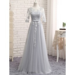 Appliques Bowknot Half Sleeves Bridesmaid Dress found on MODAPINS from Tbdress for USD $189.98