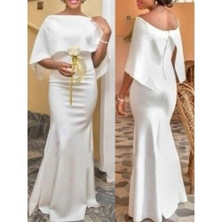 Bateau Neck Mermaid African Formal Evening Dress 2019 found on MODAPINS from Tbdress for USD $264.47