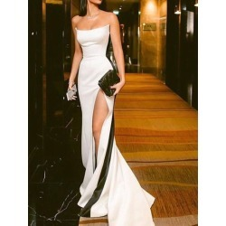 Strapless Sheath Split-Front Formal Evening Dress 2019 found on MODAPINS from Tbdress for USD $308.59