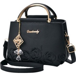Exquisite Pendant Embossing Zipper Handbag