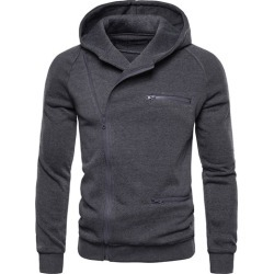 Cardigan Plain Zipper Mens Hoodies Coats