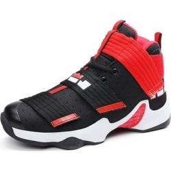 Velcro Damping Basketball Shoes Mens