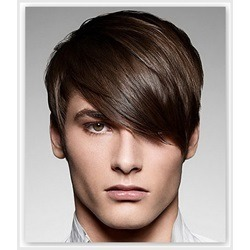 Short Straight Smooth Full Lace 100% Remy Human Hair Wig for Men