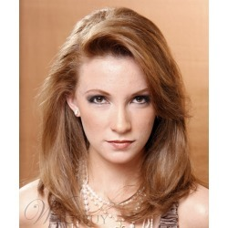 Full Lace Remy Human Hair Wigs Light Brown Natural Wigs For Women 14 Inches