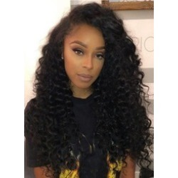 Kinky Curly Medium Synthetic Capless Hair African American For Black Women Wig
