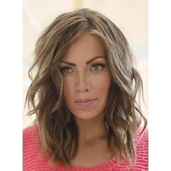 LOB Wavy Hairstyle Lace Front Human Hair Wig 14 Inches