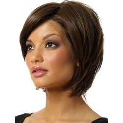 100% Real Human Hair Short Straight Popular Bob Wig