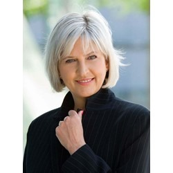 Short Straight Monofilament Top 100% Human Hair Wig 8 Inches for Older Women
