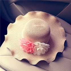 Wave Cut Straw Sun Hat For Holiday found on MODAPINS from Wigsbuy.com for USD $19.11