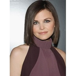 Graceful Short Straight Bob Hairstyle Lace Front Human Hair Wig 10 Inches