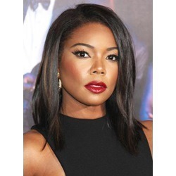 Gabrielle Union Medium Straight Lace Front Human Hair Wig 12 Inches
