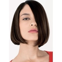 Free Style Natural Medium Straight Bob Hairstyle 100% Human Hair Lace Wig 8 Inches