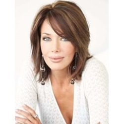 New Arrival Medium Layered Straight Lace Front Human Hair Wig 12 Inches