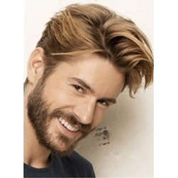 Swagger Hairstyle Human Hair Straight Full Lace Mens Wig