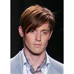 Short Straight Mens Hairstyle Top Quality 100% Human Hair Wig