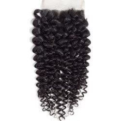 Wigsbuyt 4X4 Lace Closure Brazilian Hair Kinky Curly Free Part