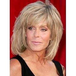 Hot Sale Inexpensive Farrah Fawcett Fluffy Hairstyle Shoulder Length Straight Wig 100% Human Hair 10 Inches