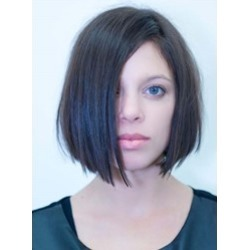 Short Straight Bob Hairstyle Full Lace Human Hair Wig 10 Inches