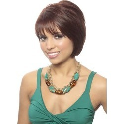 Graceful Short Straight Capless Human Hair Wig 8 Inches