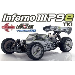 Kyosho KYO30874T1B Inferno MP9E TKI T1 Monster Truck with 1-8 EP 4WD R-S with Kt-331P - White & Black