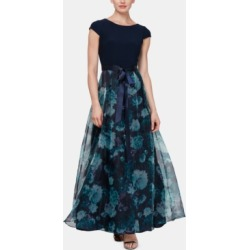 Sl Fashions Floral-Organza Gown found on MODAPINS from Macy's Australia for USD $119.23