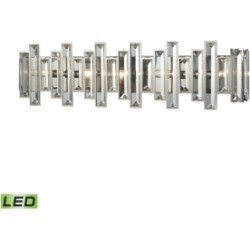 Crystal Heights 5 Light Vanity in Polished Chrome with Clear Crystal