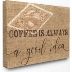 "Stupell Industries Coffee is Always a Good Idea Canvas Wall Art, 16"" x 20"""