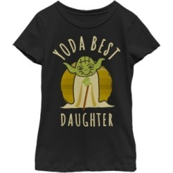 Fifth Sun Star Wars Big Girl's Yoda Best Daughter Cartoon Yoda Short Sleeve T-Shirt found on Bargain Bro India from Macys CA for $23.08