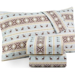 Micro Flannel Printed Full 4-pc Sheet Set